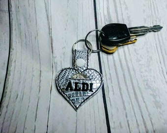 Aldi quarter keeper, Aldi quarter holder, Aldi keychain, Aldi keyfob, Aldi heart keychain