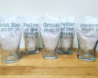 Wedding glass DECAL to make your own personalised glassss