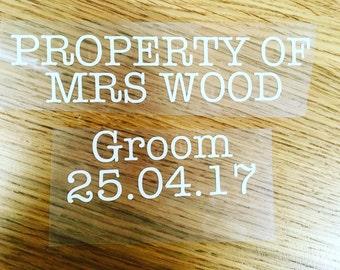 Groom boxer shorts and socks iron on vinyl wording - wedding boxer shorts- groom gifts- wedding clothing- mens clothing-
