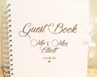 Wedding Guestbook Personalised Vinyl Sticker, make your own personalised wedding guest book, rose god wedding guest book