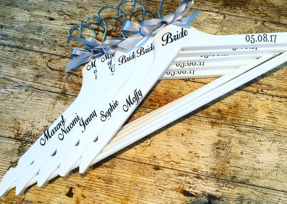 Wedding hanger vinyl stickers make your own wedding hangers personalised vinyl stickers for hangers sets of names roles and date