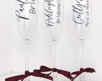 Wedding champage glass DECAL to make your own personalised champage flutes
