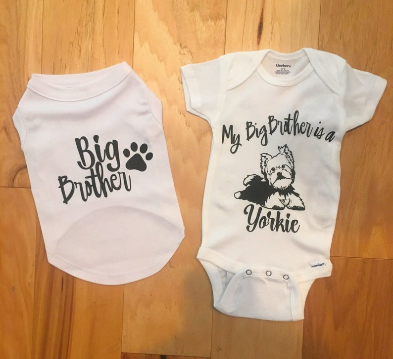 e846b5d063 Dog and Baby Matching Sibling Outfits Dog Big Brother Sister