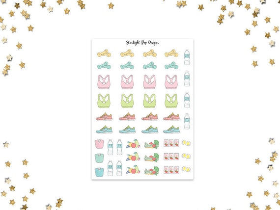 Fitness Stickers Workout Planner Stickers For Erin Condren Etsy