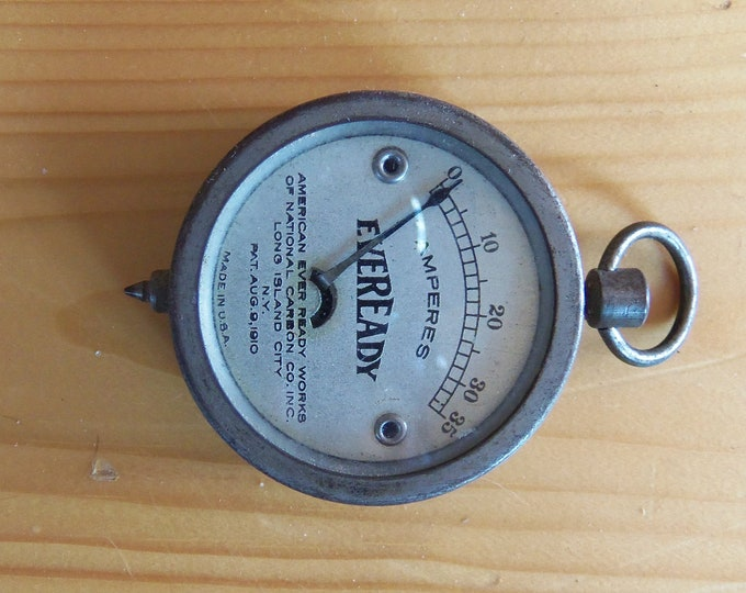 Antique Eveready  ampere meter