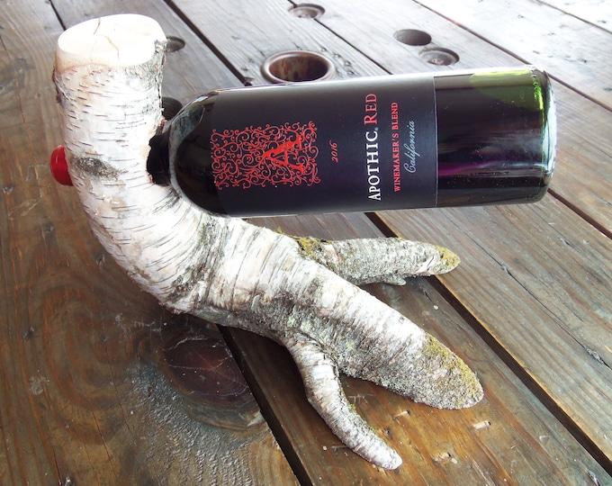 Adirondack birch wine holder