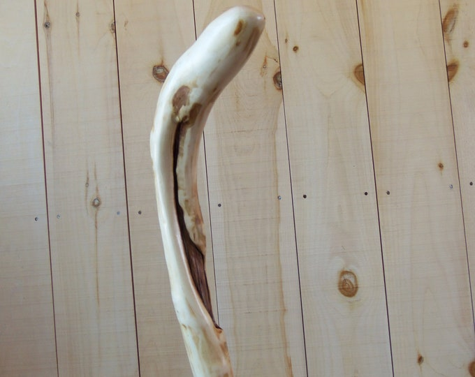 Adirondack natural curved walking cane