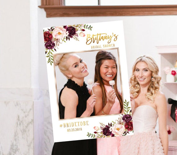 Bridal Shower Photo Prop Wedding Photo Props Bridal Shower Photo Booth Frame Bridal Shower Sign Selfie Frame Prop Photo Booth Props