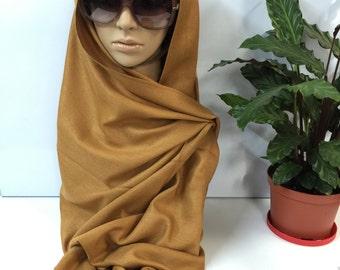 Dark Goldenrod/Brown Women's Pashimina Fall/Winter/Bridal Warm Soft Pashimina Shawl Scarf Wrap
