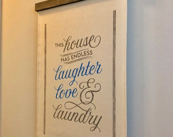 Fabric Banner Wall Hanging Endless Laundry by Glendi Designs