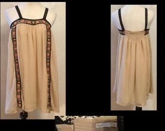 Lot 54 of 3 dresses-Chiffon dress, net Tunic, lace Tunic, Gauze like dress.  Early 2000