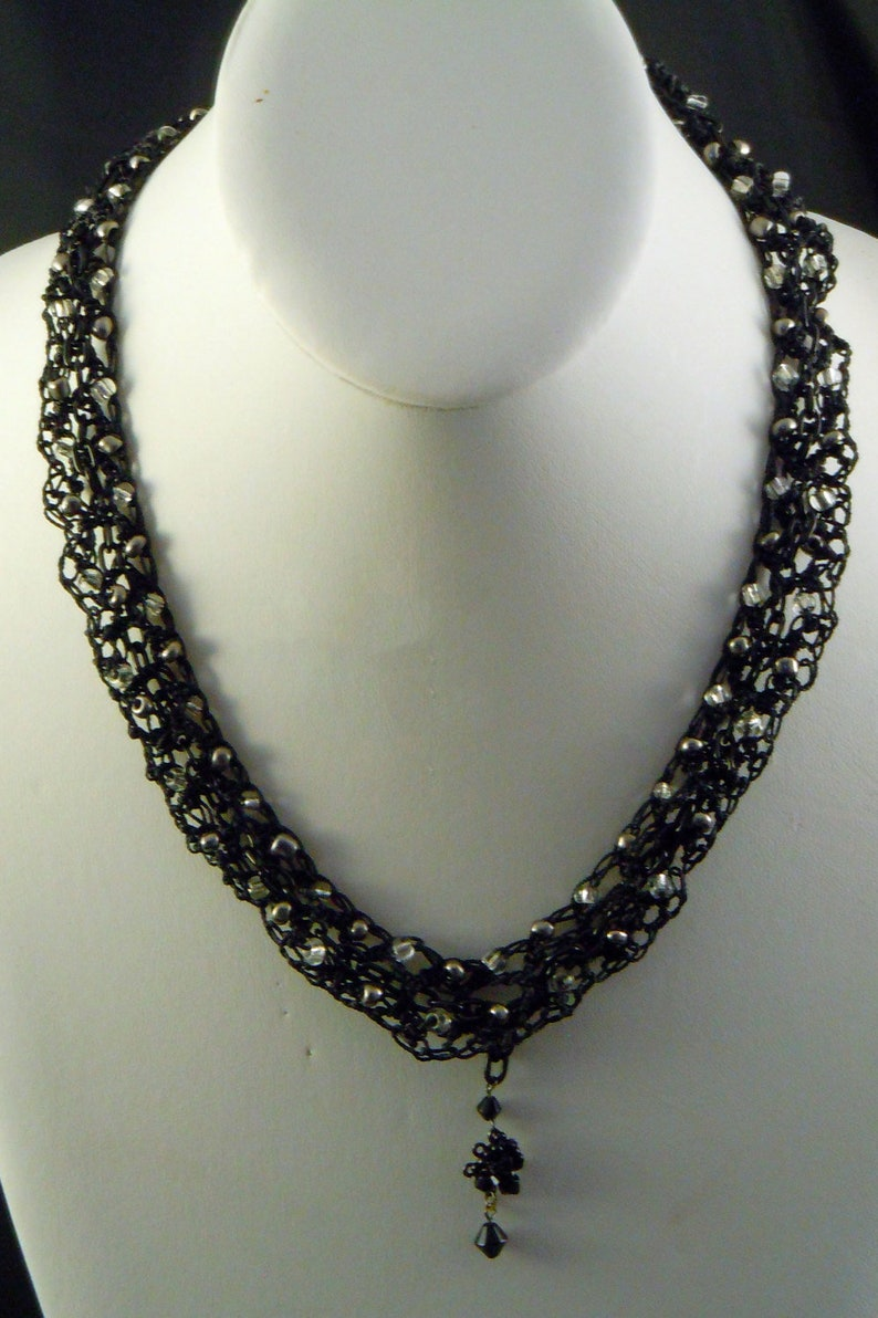 NC22 Crocheted Necklace Beaded necklace