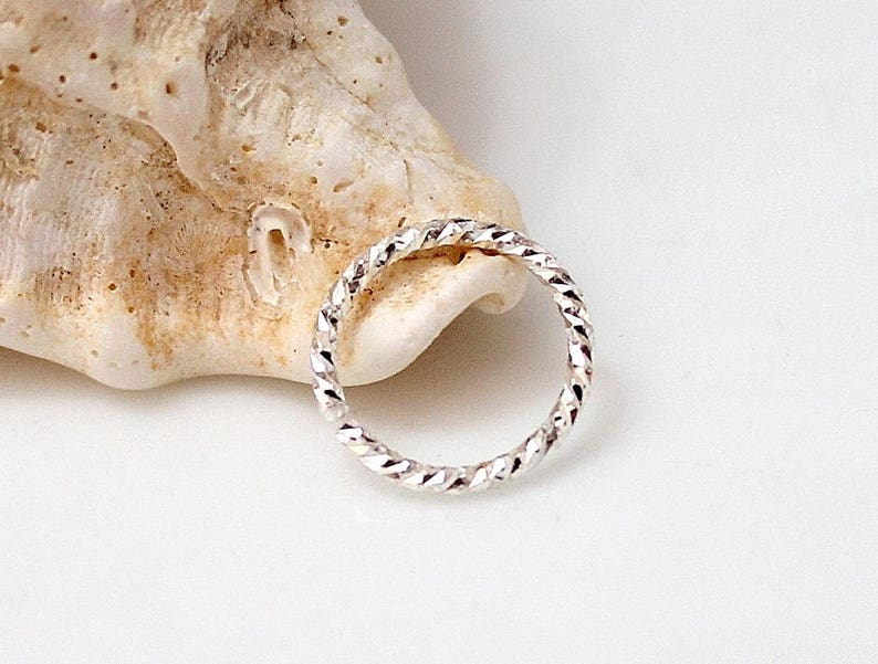 Tiny Nose Ring Piercing Cartilage Piercing,Silver Helix jewelry Twisted Cartilage Helix Hoop 18 Gauge Ring Helix Cartilage Earring Hoop