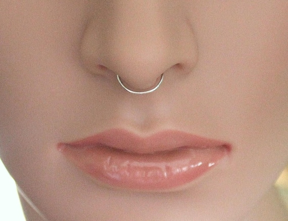 Septum Ring Gold Nose Ring Fake Silver Ring Faux Septum Etsy