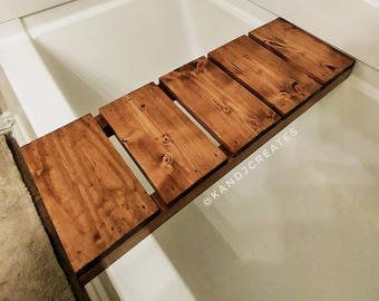 KANDJCREATES Custom Wooden Bath Caddy || Bath Decor