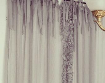 Sheer Edge Ruffle Curtain