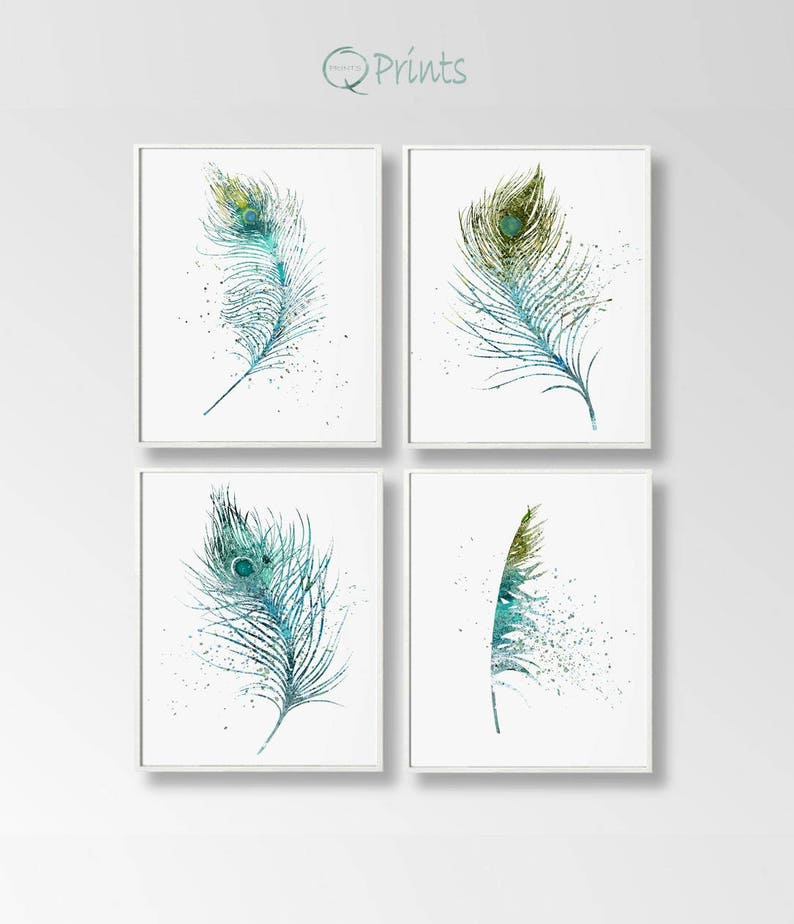 picture relating to Printable Feathers called Fastened of 4 Feathers, Electronic Feathers, Feather Prints, Printable Feathers, Do it yourself Wall Artwork, High Wall Artwork, Turquoise Blue, Watercolor Artwork