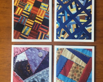 """Quilt Note Cards and Envelopes, Blank Note Card Set, Photo Note Cards, Set of 8, A2 4.25"""" x 5.5"""""""
