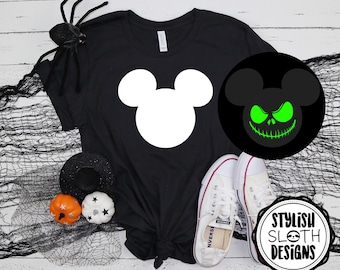 Spooky Arbre Glow in the Dark T-shirt Homme Femme lumineux Halloween Costume