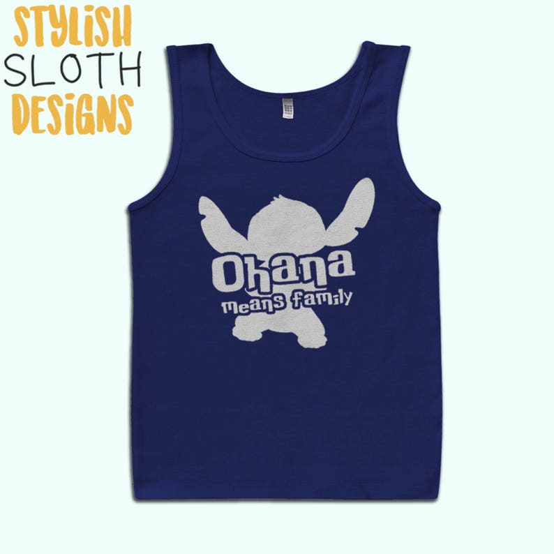88bf35d58 Ohana means family Lilo and Stitch Disney Unisex Tank top | Etsy