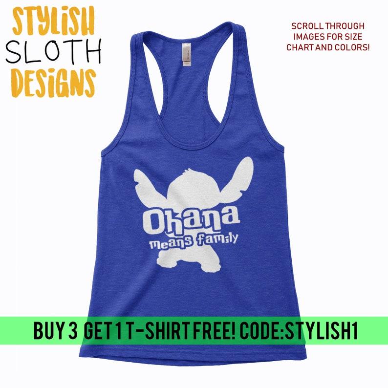 b38daf8f5 Ohana means family Disney Lilo and Stitch tank top Women | Etsy