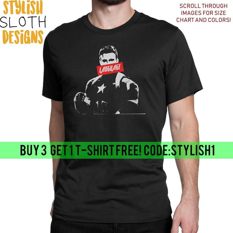 e1b6c71cfe1f6 Avengers Captain America Language Marvel T shirt Disney