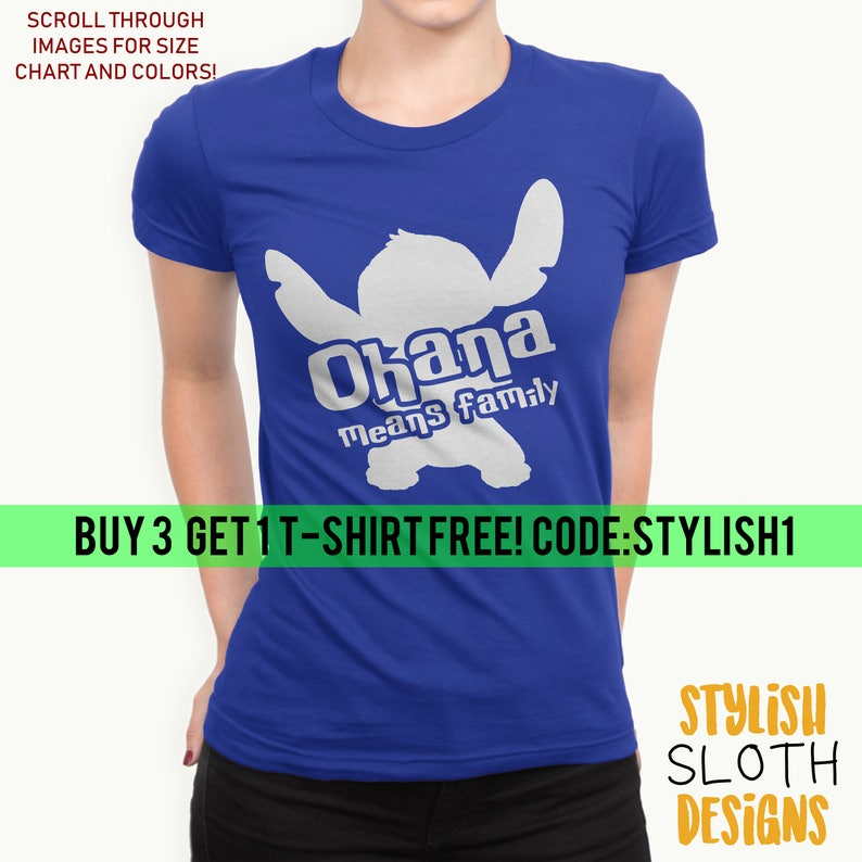 9ebc00cdd Ohana Means family T-shirts Lilo and stitch Disney T shirt | Etsy