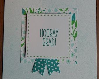 Floral Graduation Card