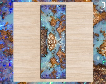 Boulder Opal Exercise Mat / Non-slip, Eco Friendly Yogi Equipment / Natural Rubber Mats / Rock Pattern Yoga Mat