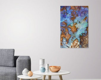 Boulder Opal Print_Gemstone Fine Art_Sparkly Crystal Decor_Opal Stone Gift_Gem Lover Essentials_Teen Room Decor_Gift for Wiccan_Geology Art