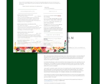 Modern Resume & Cover Letter Template_Warm Watercolor