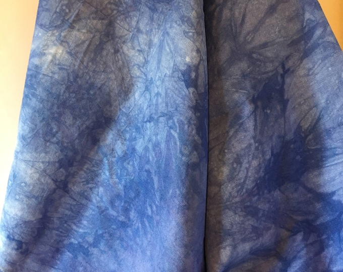 Featured listing image: Essex Linen cotton, Periwinkle blue, mottled, 1 yard (36x54) LC3.16