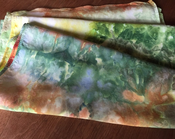Featured listing image: Scarf, Bamboo Rayon, Abacela Fall Colors, hand dyed  14 x 72 (BR1.12)