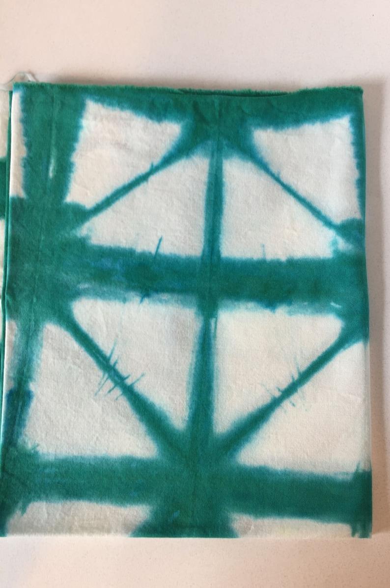 100/% cotton, Emerald green Shibori 12 yard Cotton