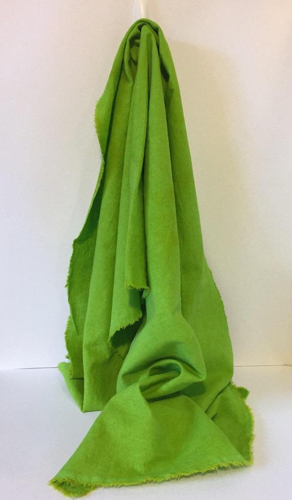mottled Linen rayon half yard, 18 x 52 Aquamarine green