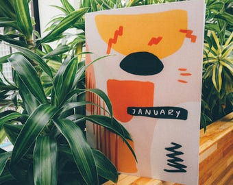 Dotted Monthly Planner // January