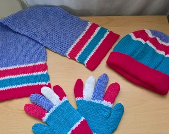 Kid's Hat, Gloves and Scarf set