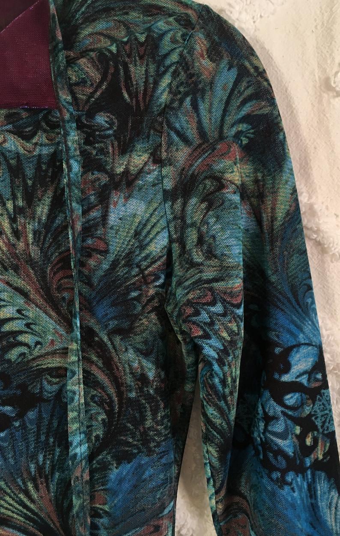 Vintage 90/'s Tribal Blue Blouse Top