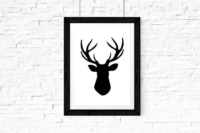 photo about Deer Head Silhouette Printable named Antler Printable Indicator, Deer Intellect Silhouette, Searching Indication, Antler Indicator, Wanting Decor, Deer Decor, Deer Wall Artwork, Deer Thoughts Wall Artwork