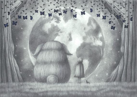 Halloween art Original drawing Illustration pop surrealism