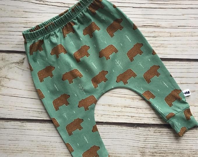 """Harem pants slim """"brown bear"""""""