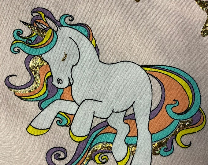 "Jersey fabric ""glitter unicorn"""