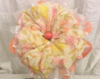 Peach Fabric Flower Bouquet