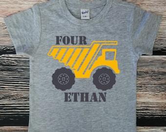 Construction Birthday Shirt, Dump Truck Birthday Party, Truck Birthday Shirt