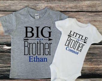 Big Brother/ Little sibling set, Sibling shirt set , Big Brother shirt/ little sister bodysuit