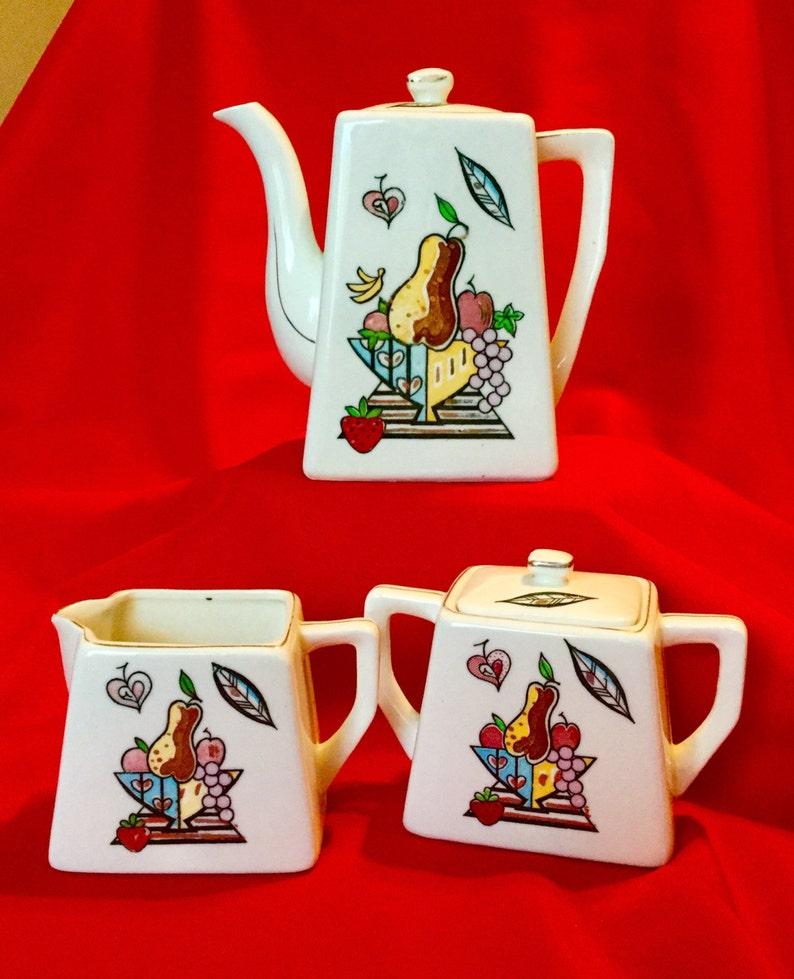 Sugar and Creamer 1940/'s Vintage Individual Coffee Pot
