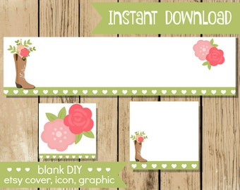 60121d6cb4a8a Business Branding and Party Printables by LKDgraphicdesign on Etsy