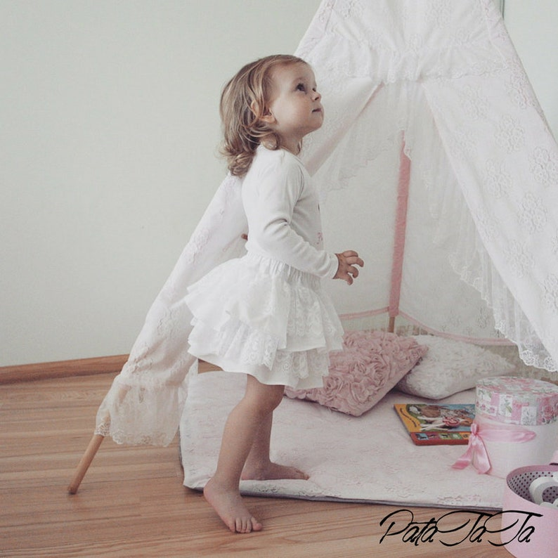 Baby girl skirts, bohemian baby clothes, ruffle lace skirt, white lace  bloomer, boho flower girl, baby girl tutu skirt, toddler lace skirt