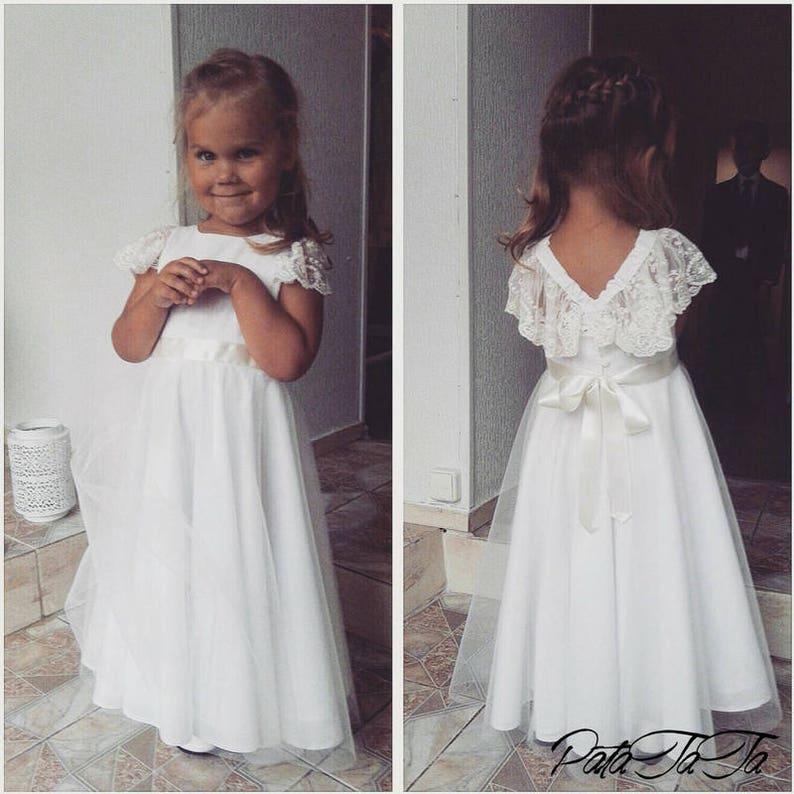 46ff04a123b49 Robe de fille de fleur BOHO CHIC robe boho enfant en bas