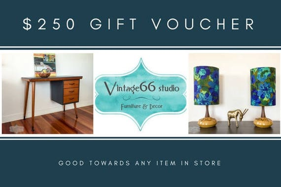 Gift Voucher For Any Item In Store 250 Dollars Vintage Etsy